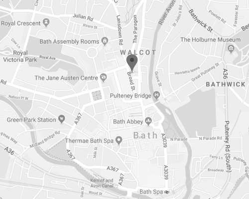The Bath Holiday Company - Broad Street Map